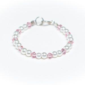 Infant Girl Swarovski Chrystal & Pearls Bracelet